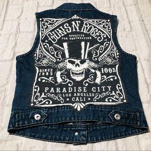 Handmade Guns N' Roses Paradise City Denim Vest